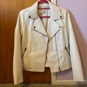 White leather jacket! Hardly worn!